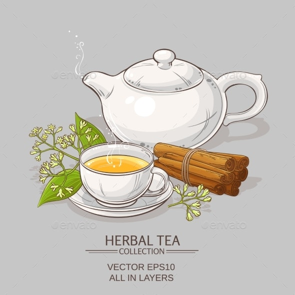 Cinnamon Tea Illustration - Food Objects
