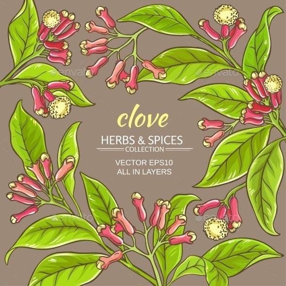Clove Vector Frame - Flowers & Plants Nature