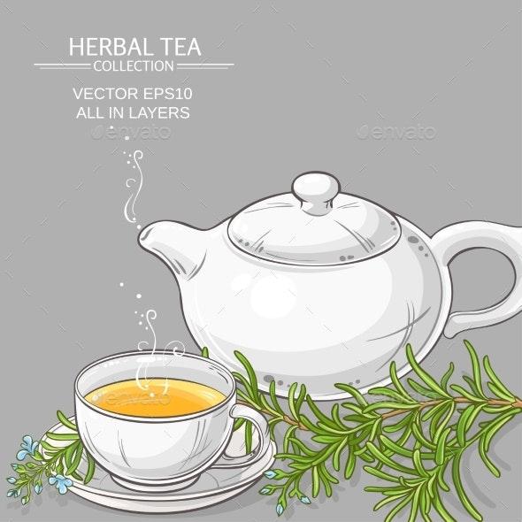 Rosemary Tea Illustration - Food Objects