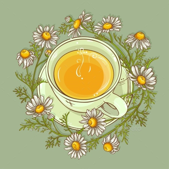 Cup of Chamomile Tea - Food Objects