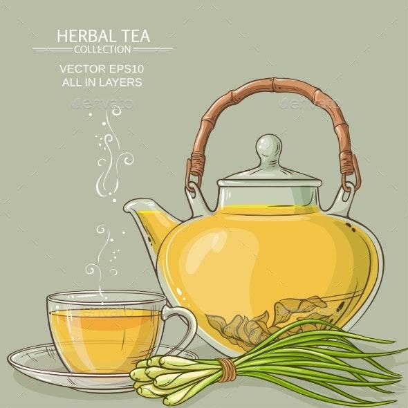 Lemongrass Tea Illustration - Food Objects