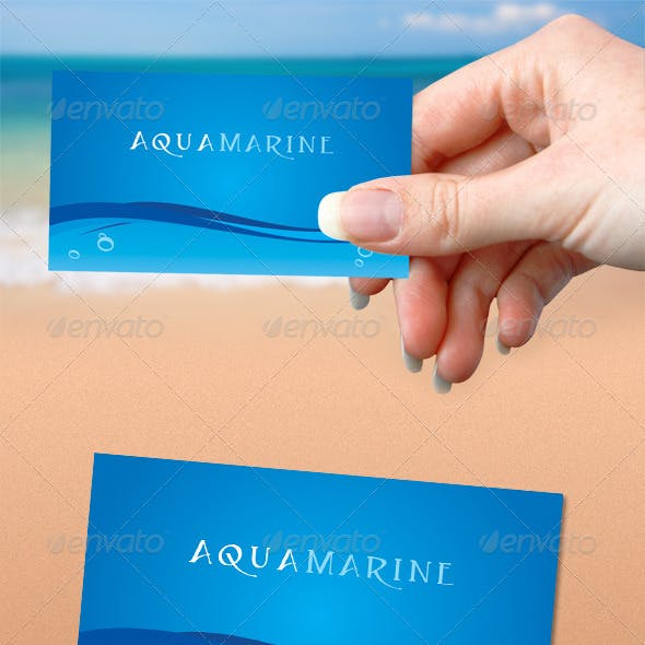 Aquamarine Business Card