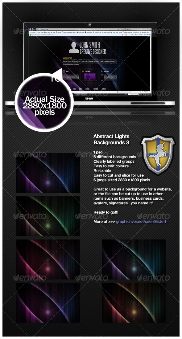 Abstract Lights Background Pack 3 - Backgrounds Graphics