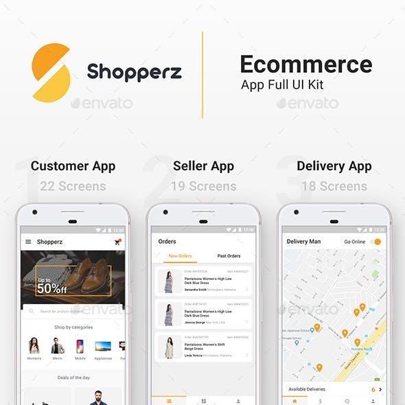 Full E-commerce App UI   3 Apps   59 Screens