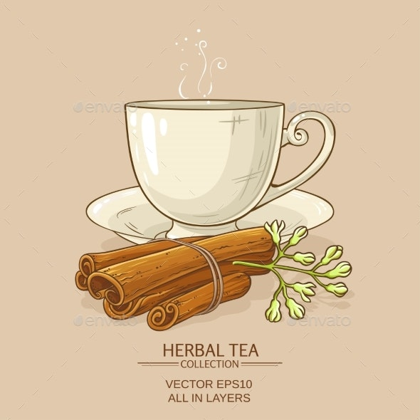 Cup of Cinnamon Tea - Food Objects