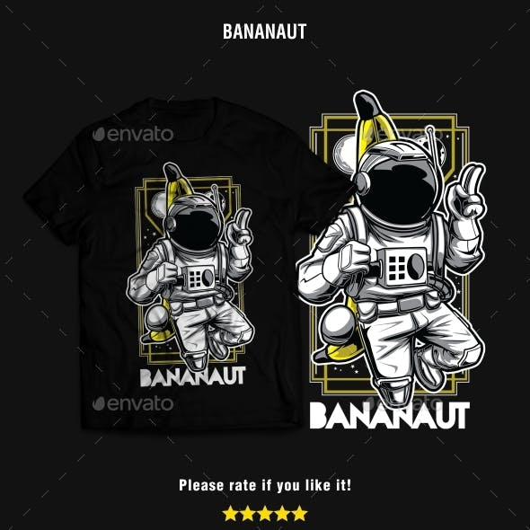 Bananaut – Astronaut & Banana T-Shirt Design