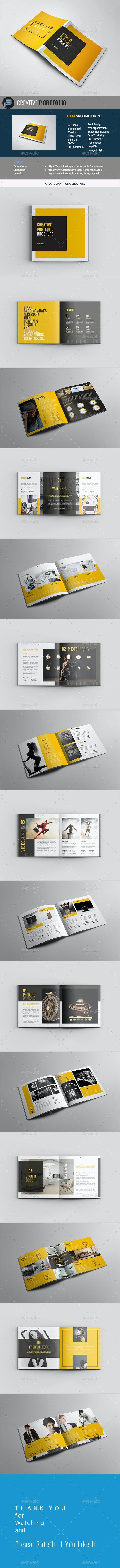 Creative Portfolio Brochure - Portfolio Brochures