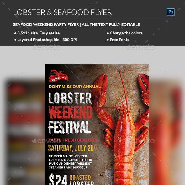 Lobster / Seafood Flyer