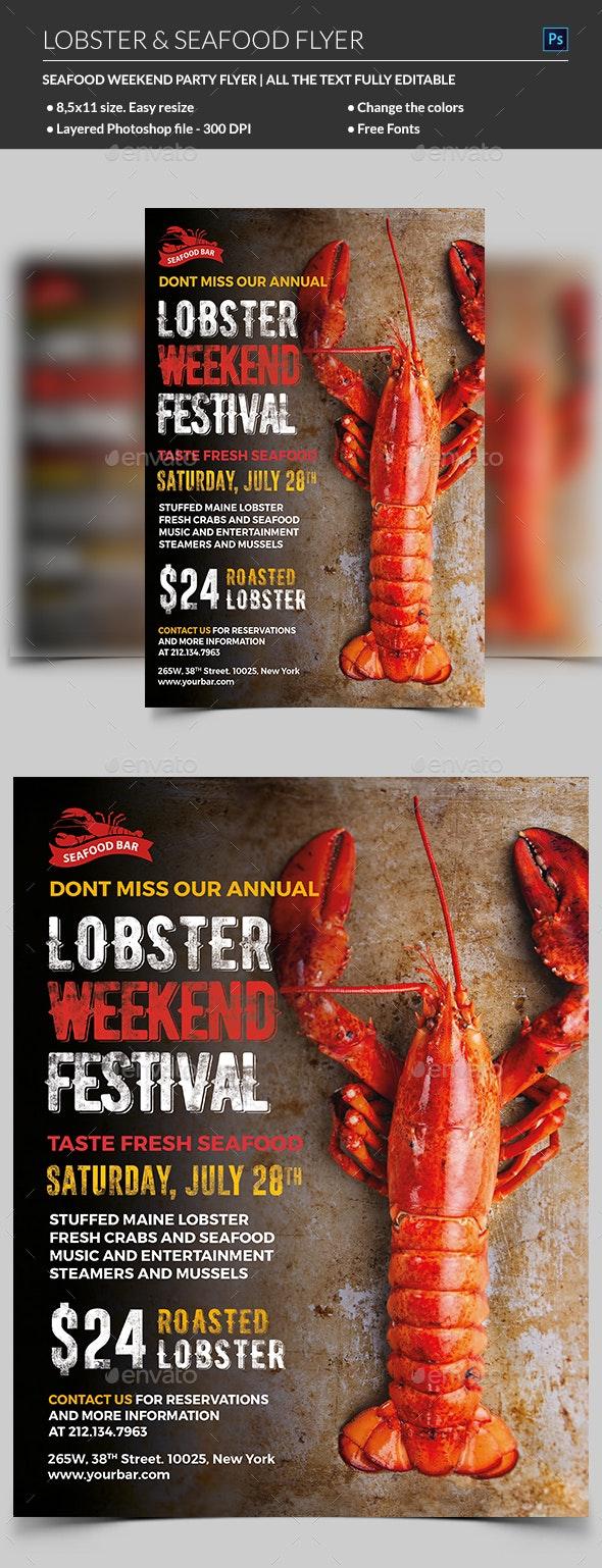 Lobster / Seafood Flyer - Restaurant Flyers