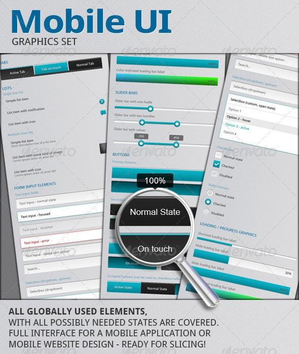 Simplistic Mobile UI - Miscellaneous Web Elements