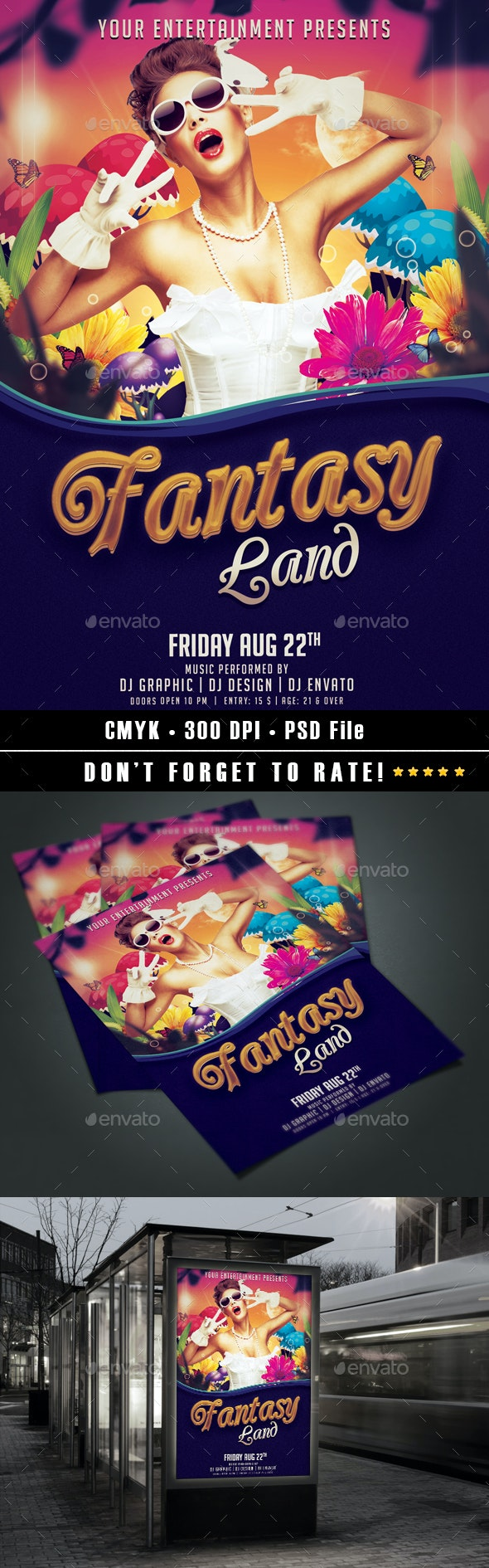 Fantasy Land Flyer - Events Flyers