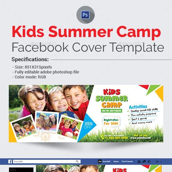Kids Summer Camp Facebook Cover