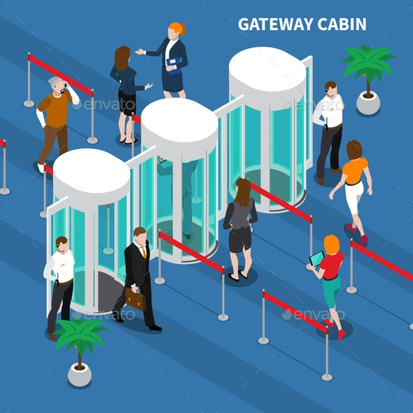 Gateway Cabin Access Identification Composition - People Characters