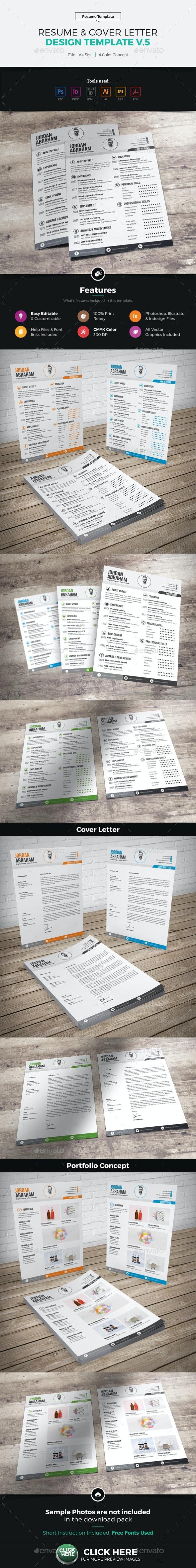 Resume & Cover Letter Design v5 - Resumes Stationery