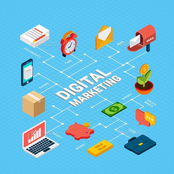Digital Marketing Infographics - Media Technology
