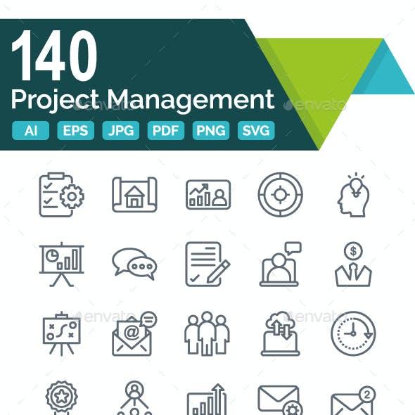 Project Management Line Icon