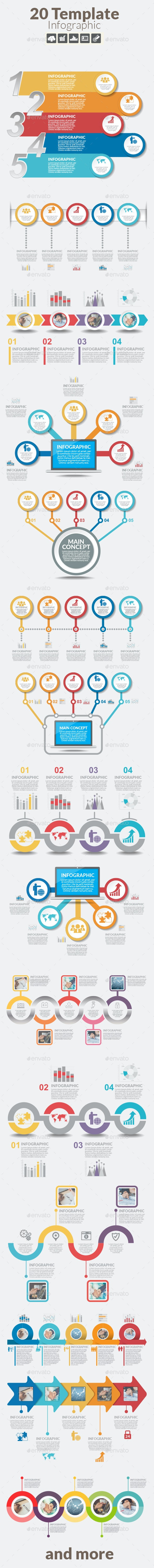 Infographic design template with text boxes. - Infographics