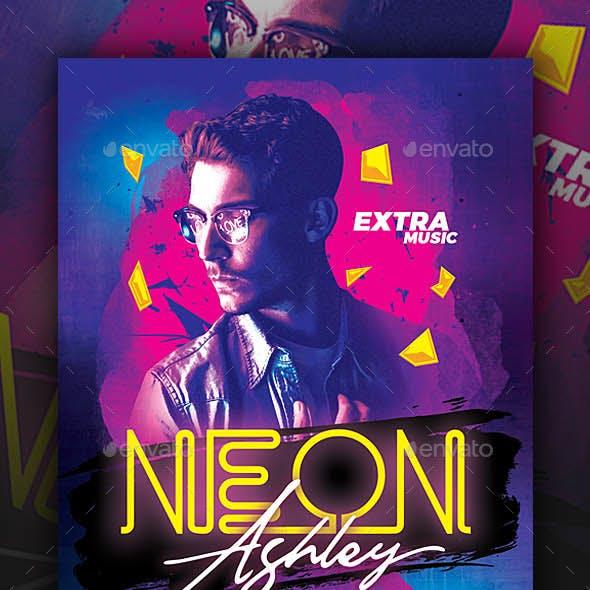 Neon Guest DJ Club Flyer