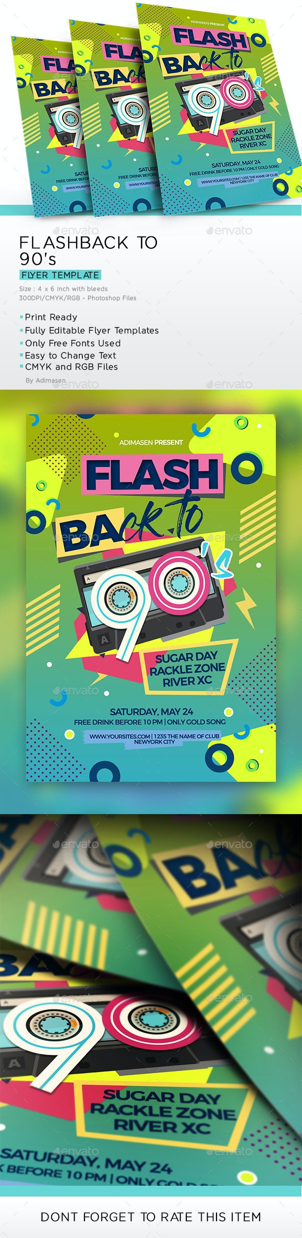 Flashback to 90's - Events Flyers