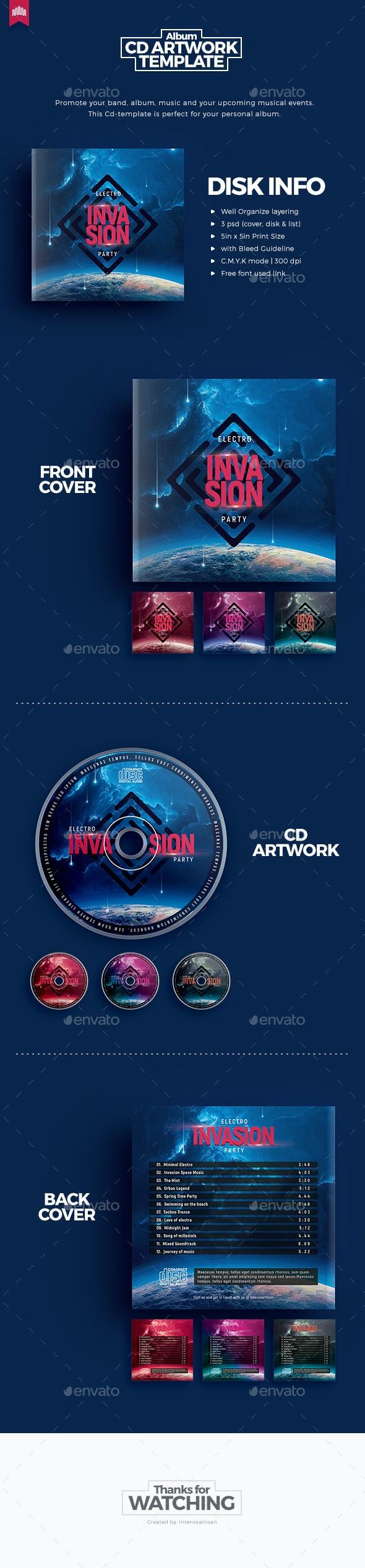 Invasion - Cd Artwork - CD & DVD Artwork Print Templates