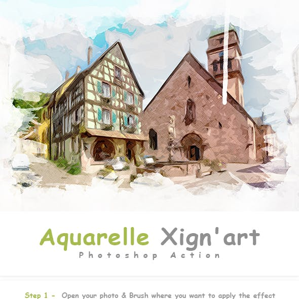 Aquarelle Xign'art | PS Action