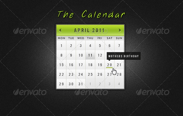 The Calendar - Miscellaneous Web Elements