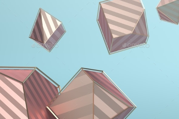 Abstract 3D Rendering of Geometric Shapes - 3D Backgrounds