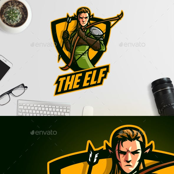 Esports Elf Archer Logo