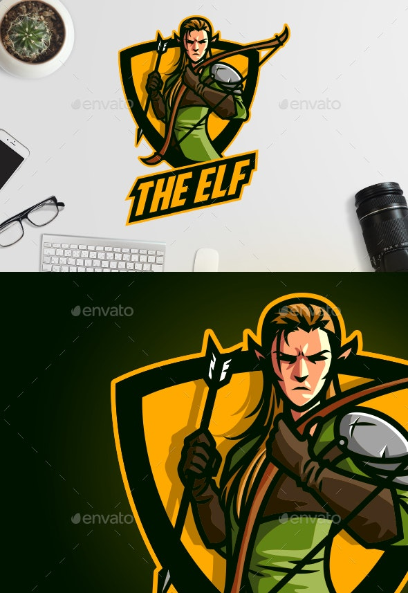 Esports Elf Archer Logo - Sports Logo Templates