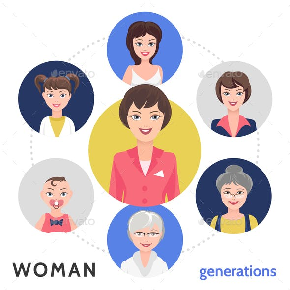 Flat People Life Cycle Concept