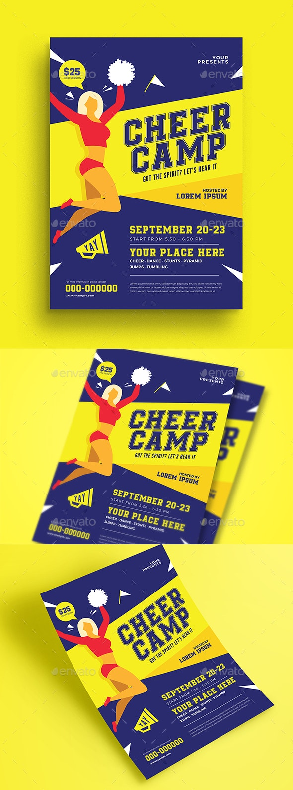 Cheer Camp Flyer - Flyers Print Templates