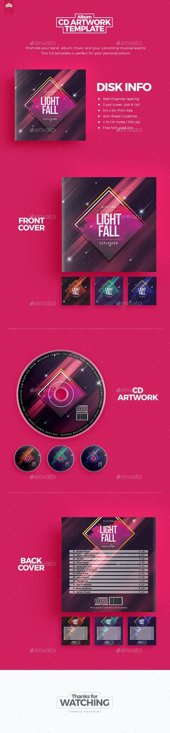 Light Fall - CD Artwork - CD & DVD Artwork Print Templates