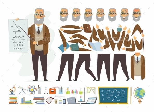 Teacher - Vector Cartoon People Character - People Characters