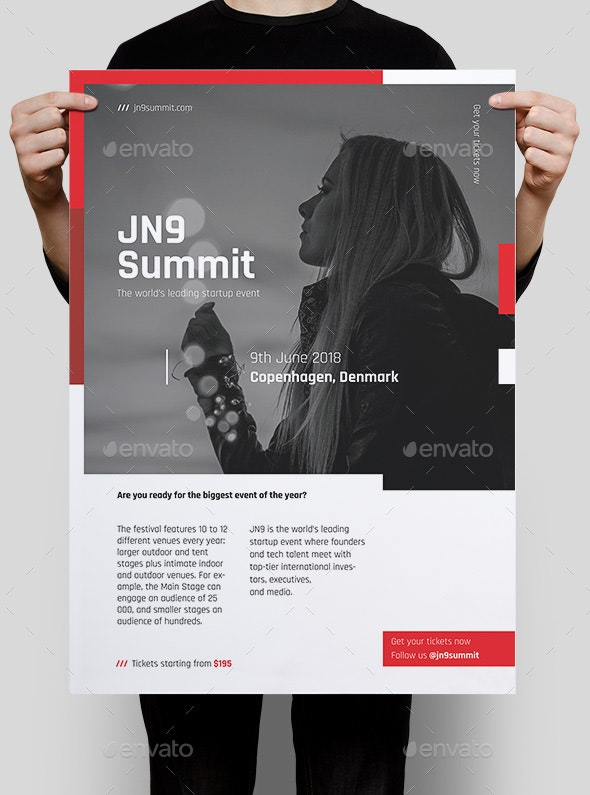 JN9 Summit Poster/Flyer Template - Corporate Flyers