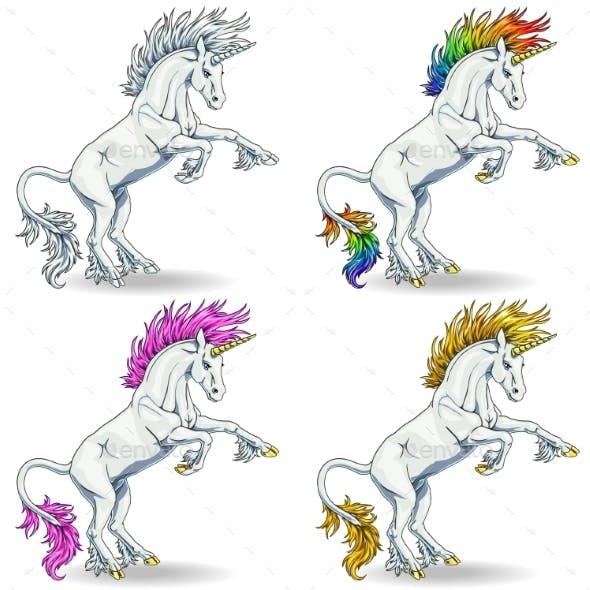Set of White Unicorns