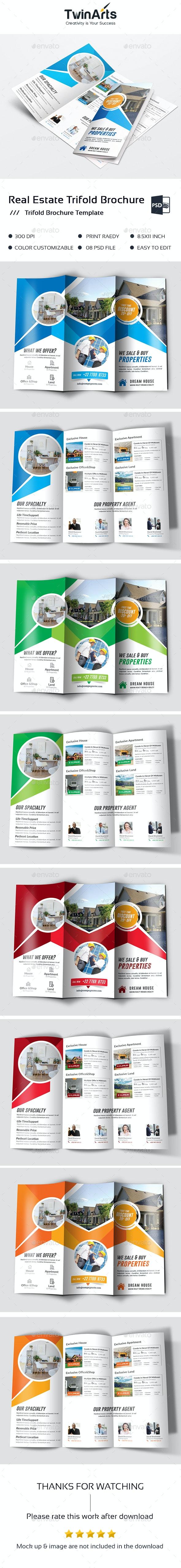 Real Estate Trifold Brochure - Brochures Print Templates