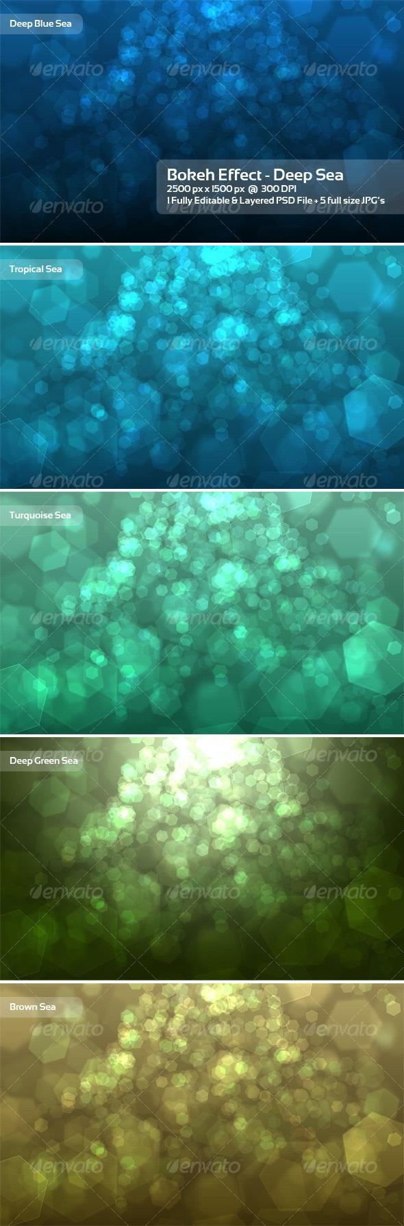 Bokeh Effect - Deep Sea - Backgrounds Graphics