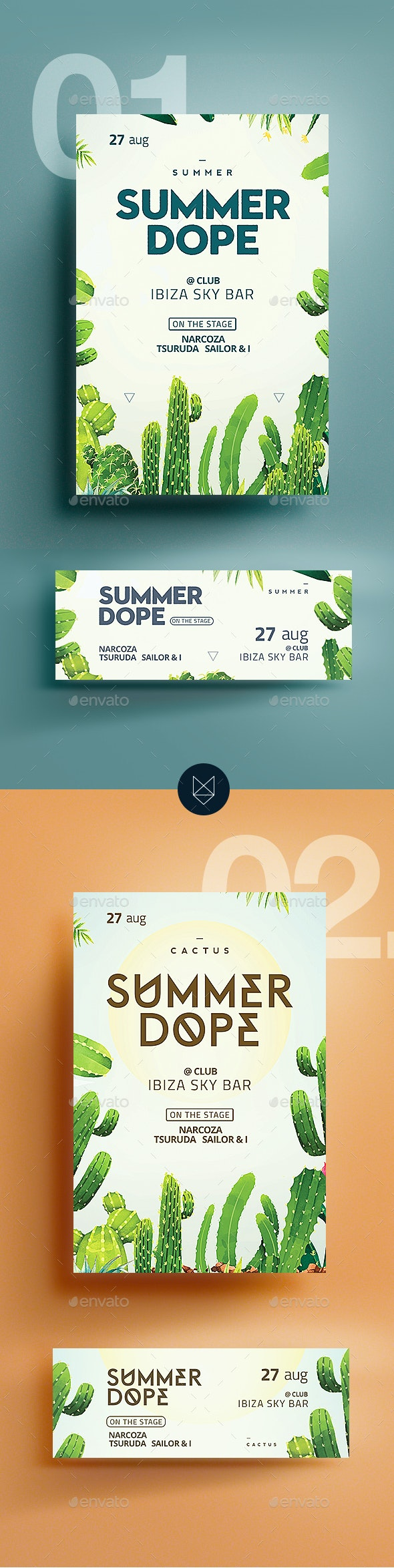 Summer Dope Flyer - Clubs & Parties Events