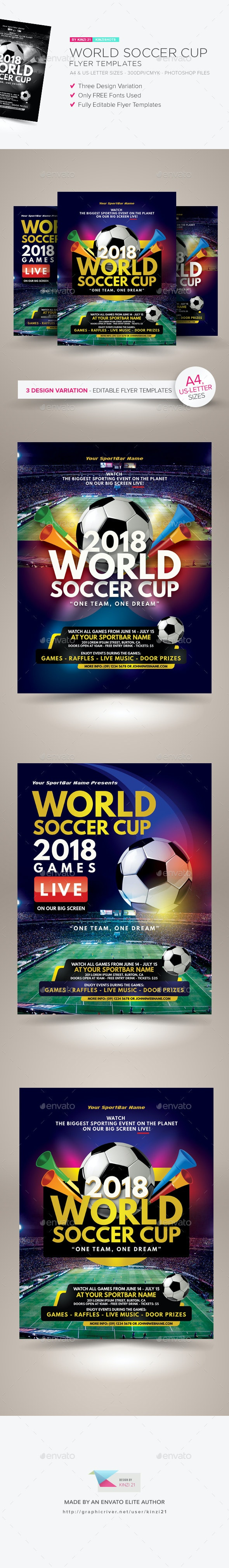 World Soccer Cup Flyer Templates - Sports Events