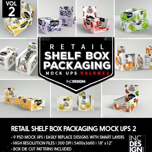 Retail Shelf Box Packaging Mockups 2