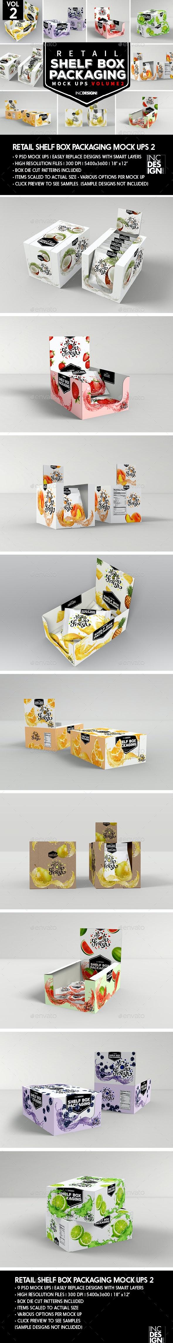 Retail Shelf Box Packaging Mockups 2 - Food and Drink Packaging