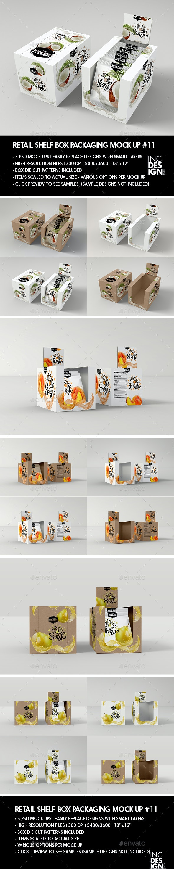 Retail Shelf Box Packaging MockUp No.11 - Food and Drink Packaging
