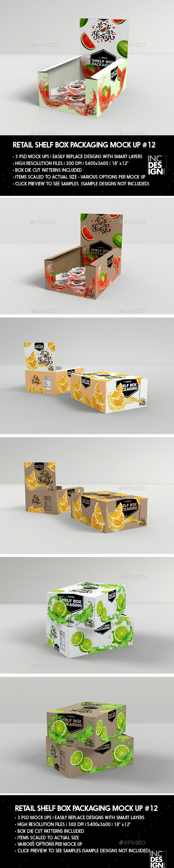 Retail Shelf Box Packaging MockUp No.12 - Food and Drink Packaging