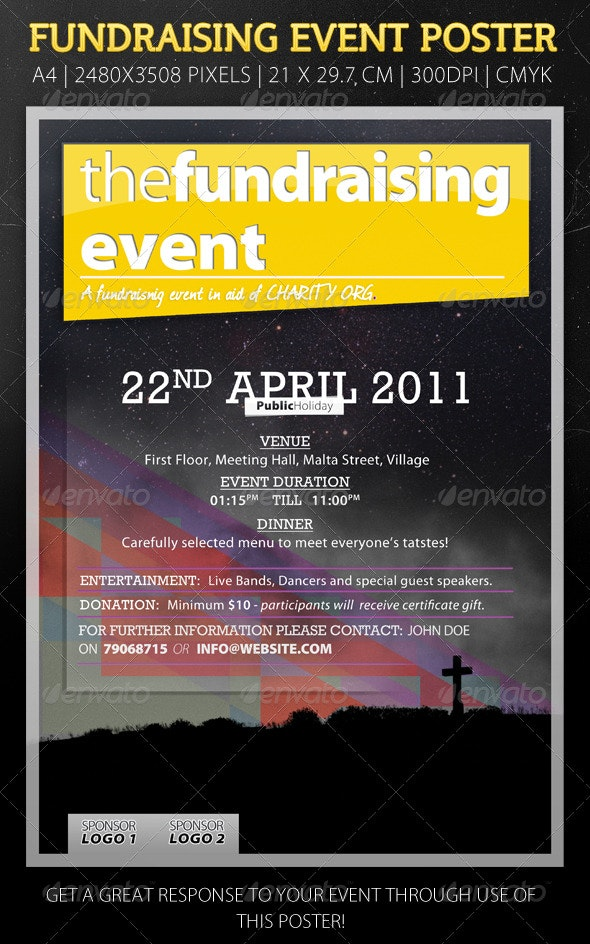Modern Flyer For Fundraising Event - Clubs & Parties Events