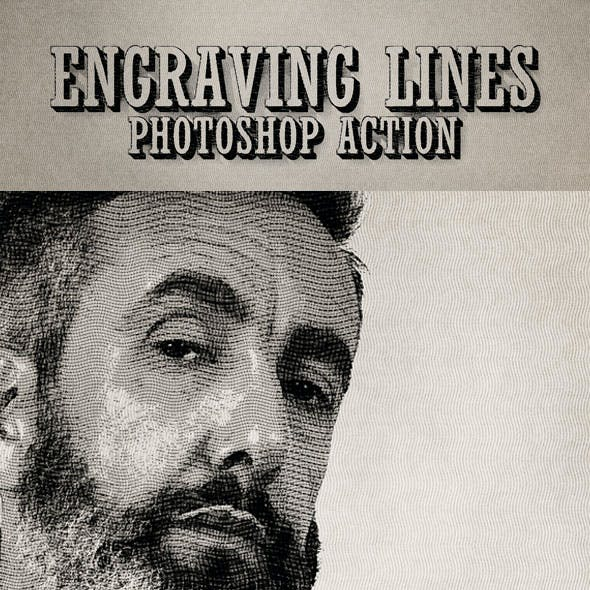 Engraving Lines Photoshop Action