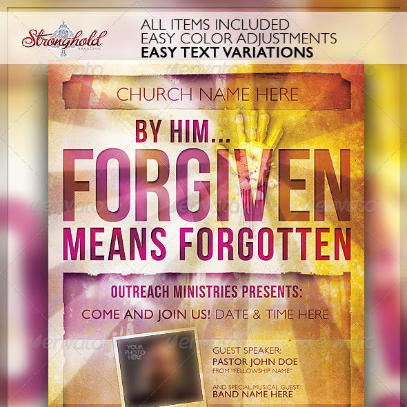 Forgiven Church Flyer Template