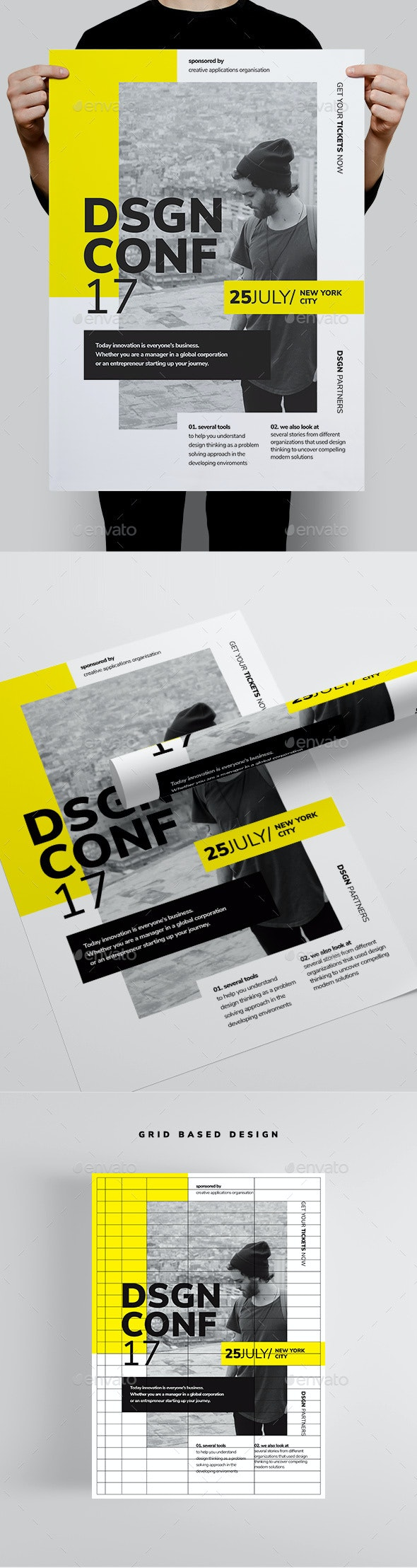 DSGN Series 1 Poster / Flyer Template - Corporate Flyers