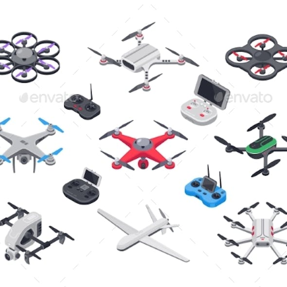 Unmanned Aircraft, Delivery Drone with Propellers
