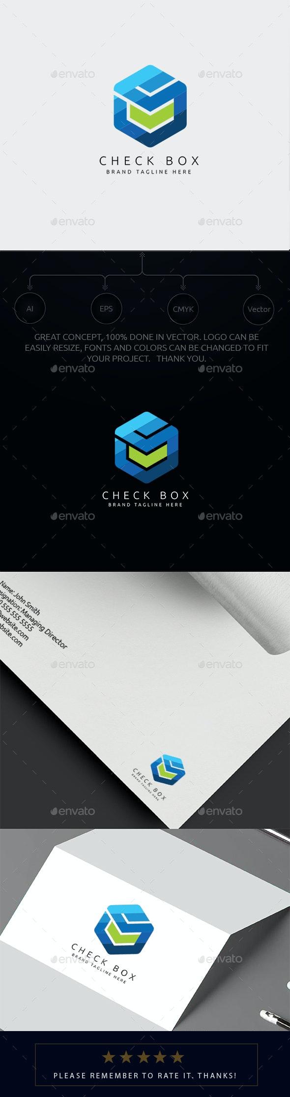 Check Box Logo - Symbols Logo Templates