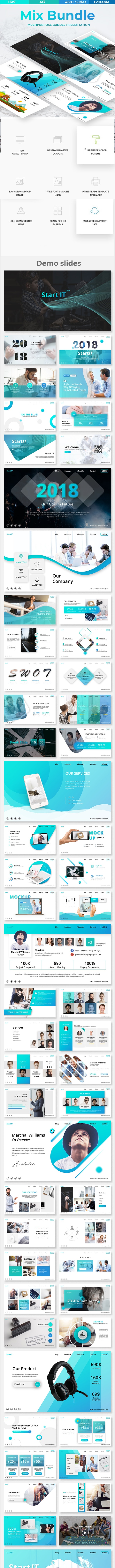 Mix Bundle 2 in 1 - Business Powerpoint Template - Business PowerPoint Templates